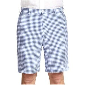 Polo Ralph Lauren Blue Gingham Straight Fit Shorts